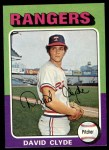 1975 Topps #12  David Clyde  Front Thumbnail