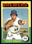 1975 Topps #408  Clyde Wright  Front Thumbnail