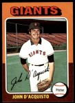 1975 Topps #372  John D'Acquisto  Front Thumbnail