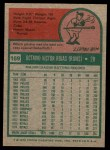 1975 Topps #169  Cookie Rojas  Back Thumbnail