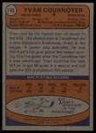 1974 Topps #140  Yvan Cournoyer  Back Thumbnail