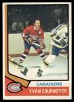 1974 Topps #140  Yvan Cournoyer  Front Thumbnail