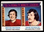 1974 Topps #5   -  Bryan Watson / Dave Schultz Penalty Minute Leaders Front Thumbnail