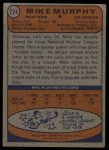 1974 Topps #224  Mike Murphy  Back Thumbnail