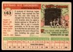 1955 Topps #163  Faye Throneberry  Back Thumbnail