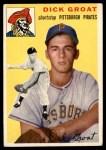 1954 Topps #43 WHT Dick Groat  Front Thumbnail