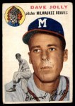 1954 Topps #188  Dave Jolly  Front Thumbnail
