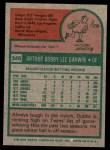 1975 Topps #346  Bobby Darwin  Back Thumbnail