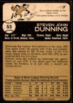 1973 O-Pee-Chee #53  Steve Dunning  Back Thumbnail