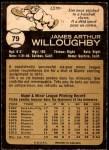 1973 O-Pee-Chee #79  Jim Willoughby  Back Thumbnail