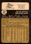 1973 O-Pee-Chee #337  Dave Duncan  Back Thumbnail
