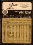 1973 O-Pee-Chee #332  John Felske  Back Thumbnail
