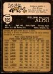 1973 O-Pee-Chee #650  Felipe Alou  Back Thumbnail