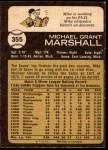 1973 O-Pee-Chee #355  Mike Marshall  Back Thumbnail
