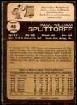 1973 O-Pee-Chee #48  Paul Splittorff  Back Thumbnail