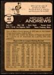 1973 O-Pee-Chee #42  Mike Andrews  Back Thumbnail
