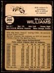 1973 O-Pee-Chee #200  Billy Williams  Back Thumbnail