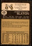 1973 O-Pee-Chee #628  Jim Slaton  Back Thumbnail