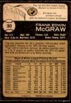 1973 O-Pee-Chee #30  Tug McGraw  Back Thumbnail