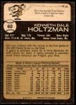 1973 O-Pee-Chee #60  Ken Holtzman  Back Thumbnail