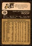 1973 O-Pee-Chee #598  Phil Roof  Back Thumbnail
