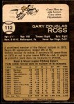 1973 O-Pee-Chee #112  Gary Ross  Back Thumbnail