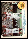 1973 O-Pee-Chee #208   -  Johnny Bench / Denis Menke / Bobby Tolan 1972 World Series - Game #6 - Reds' Slugging Ties Series Front Thumbnail