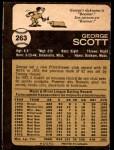 1973 O-Pee-Chee #263  George Scott  Back Thumbnail