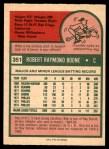 1975 O-Pee-Chee #351  Bob Boone  Back Thumbnail