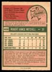 1975 O-Pee-Chee #468  Bobby Mitchell  Back Thumbnail