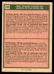 1975 O-Pee-Chee #195   -  Mickey Mantle / Hank Aaron 1957 MVPs Back Thumbnail