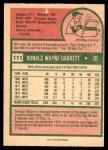 1975 O-Pee-Chee #111  Wayne Garrett  Back Thumbnail