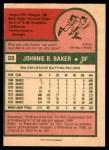 1975 O-Pee-Chee #33  Dusty Baker  Back Thumbnail