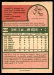 1975 O-Pee-Chee #636  Charlie Moore  Back Thumbnail