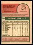 1975 O-Pee-Chee #648  Dave Pagan  Back Thumbnail