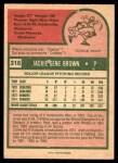 1975 O-Pee-Chee #316  Jackie Brown  Back Thumbnail