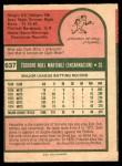 1975 O-Pee-Chee #637  Ted Martinez  Back Thumbnail
