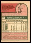 1975 O-Pee-Chee #32  Reggie Cleveland  Back Thumbnail