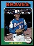1975 O-Pee-Chee #595  Joe Niekro  Front Thumbnail