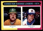 1975 O-Pee-Chee #311   -  Catfish Hunter / Buzz Capra ERA Leaders Front Thumbnail