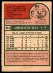 1975 O-Pee-Chee #357  Ken Forsch  Back Thumbnail
