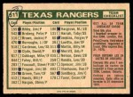 1975 O-Pee-Chee #511   -  Billy Martin Rangers Team Checklist Back Thumbnail