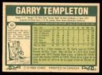 1977 O-Pee-Chee #84  Garry Templeton  Back Thumbnail