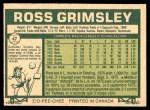 1977 O-Pee-Chee #47  Ross Grimsley  Back Thumbnail