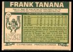 1977 O-Pee-Chee #105  Frank Tanana  Back Thumbnail