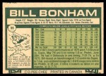 1977 O-Pee-Chee #95  Bill Bonham  Back Thumbnail