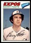 1977 O-Pee-Chee #207  Barry Foote  Front Thumbnail