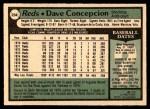 1979 O-Pee-Chee #234  Dave Concepcion  Back Thumbnail