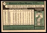 1979 O-Pee-Chee #133  Don Money  Back Thumbnail