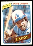 1980 O-Pee-Chee #124  Andre Dawson  Front Thumbnail